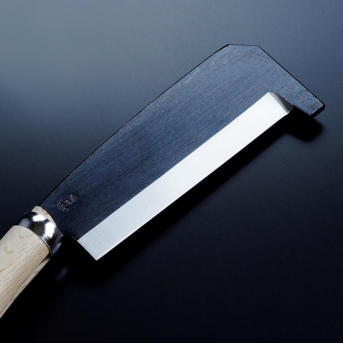 箸付 黒打鉈 片刃180mm 刃先1