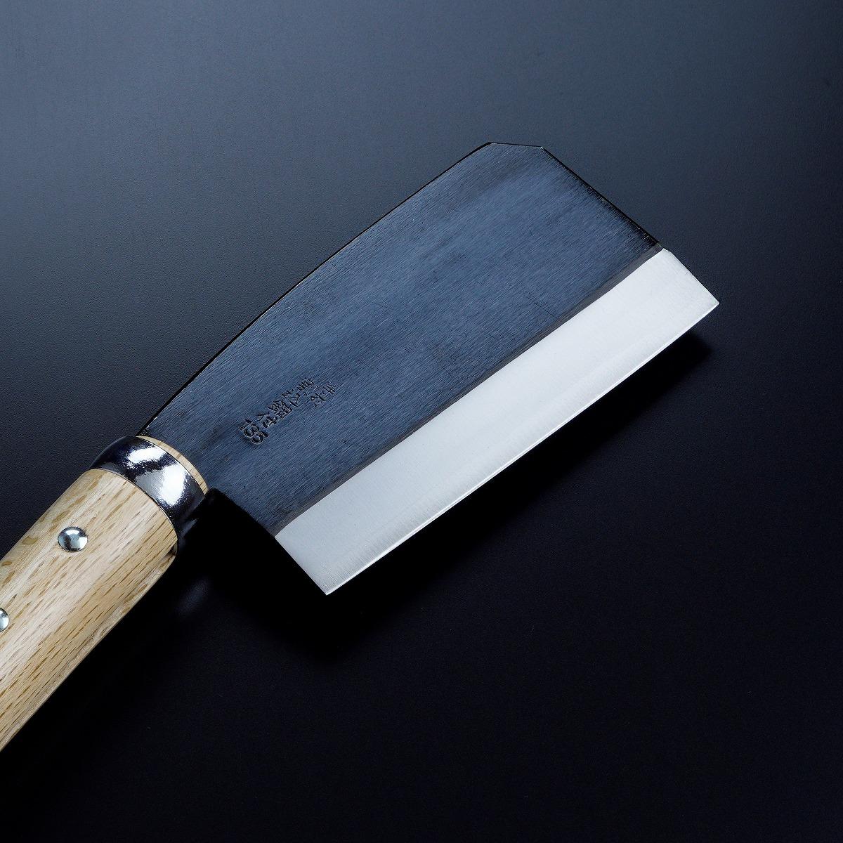 黒打厚鉈 東型 両刃135mm 刃先1
