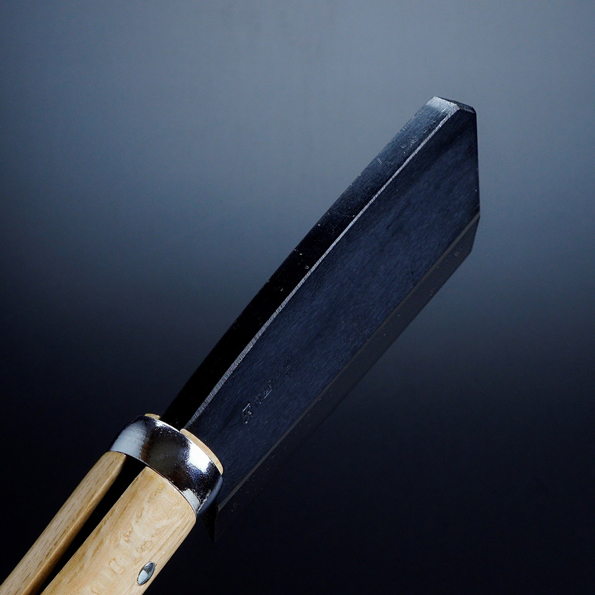 黒打厚鉈 東型 両刃135mm 峰
