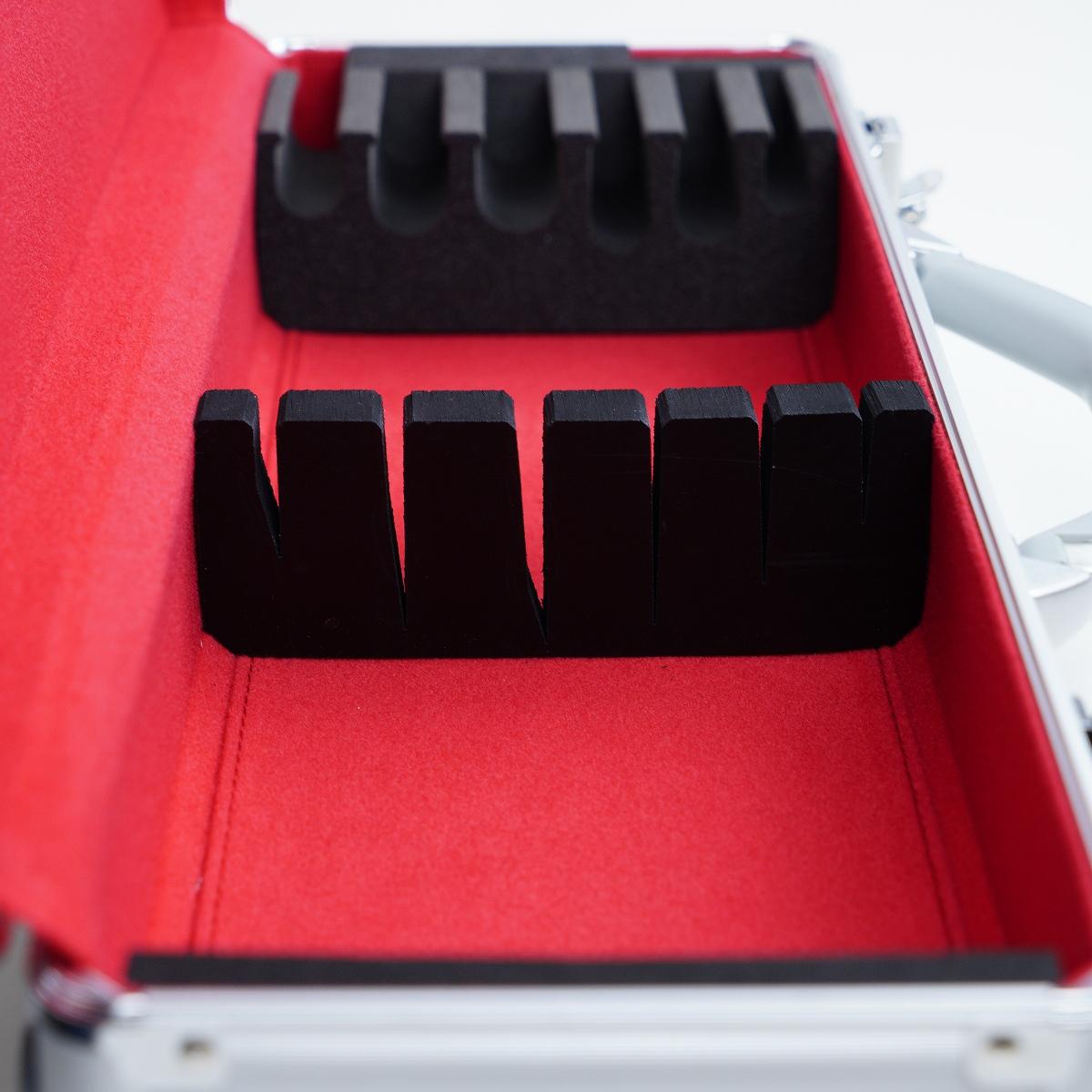 包丁収納アタッシュケース アルミ製 「和洋包丁用」収納数6本