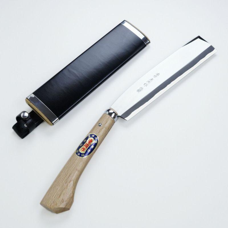東周作 高級 腰鉈 両刃24mm 白紙鋼 鞘付き ほんまもんオリジナル