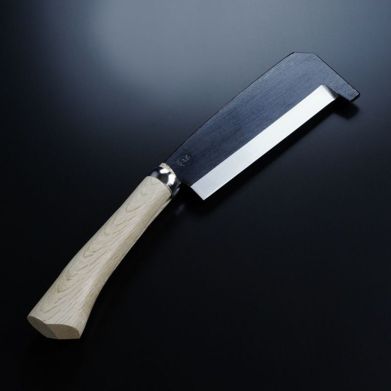 箸付 黒打鉈 片刃180mm 刃当てカバー付き